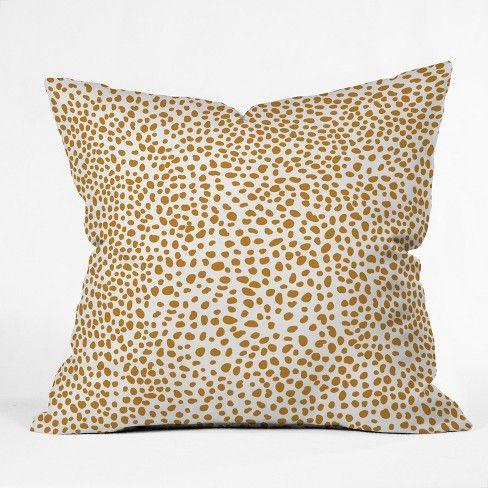 Iveta Abolina La Jardin Noir Vii Square Throw Pillow Bright Gold Deny Designs Target Throw Pillows Gold Pillows Square Throw Pillow