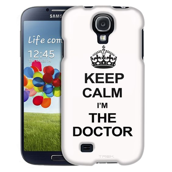Samsung Galaxy S4 KEEP CALM and I'm the Doctor on White Slim Case
