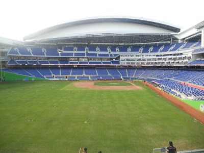 Roof Open Picture From Left Field At Marlins Park No The Stadium Isn T Empty On A Game Day This Was A Special Ev Marlins University Of Connecticut Barn Decor