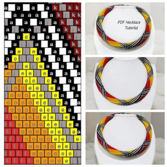 Bead crochet tubular and rope tutorial and designs beads east.