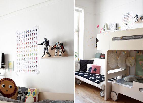 habitacion juvenil con literas