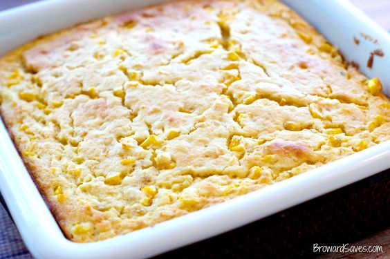 Easy and delicious Corn Souffle Recipe. Make it for dinner tonight and please your family!