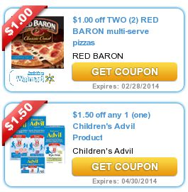 COUPONS.com $$ New Printable Coupons: Save $1/2 Red Baron, $1.50/1 Children's Advil + More (12/31)!