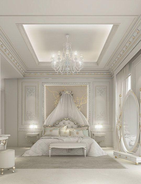 غرف نوم ملكية لعشاق الفخامة 31543a4bf7685f39b1422eda04bdf57d