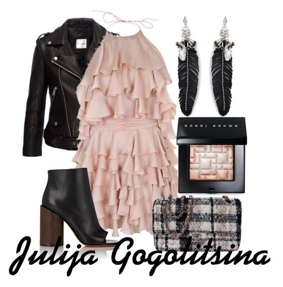 """Воланы"" by yulia-gogolitsina ❤ liked on Polyvore featuring beauty, Balmain, Givenchy, Chanel, Rebecca Minkoff and Bobbi Brown Cosmetics"