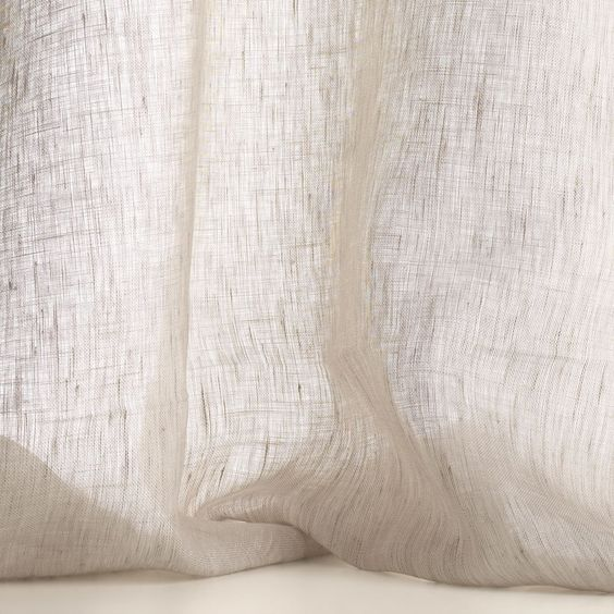 MILINA col. 004 by Dedar - A transparent, lightweight sheer. In extra width and washable.