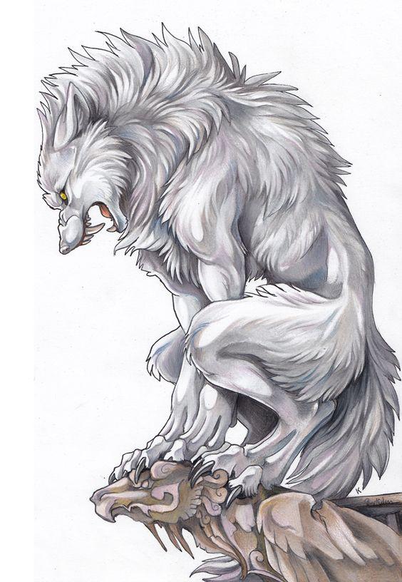 forma hombre lobo  Hombre lobo Apocalipsis  Pinterest  Hombres