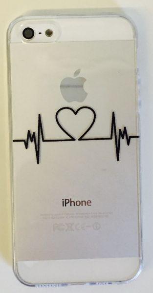 Capinha iPhone 5/5S Silicone - Coração Pulsante