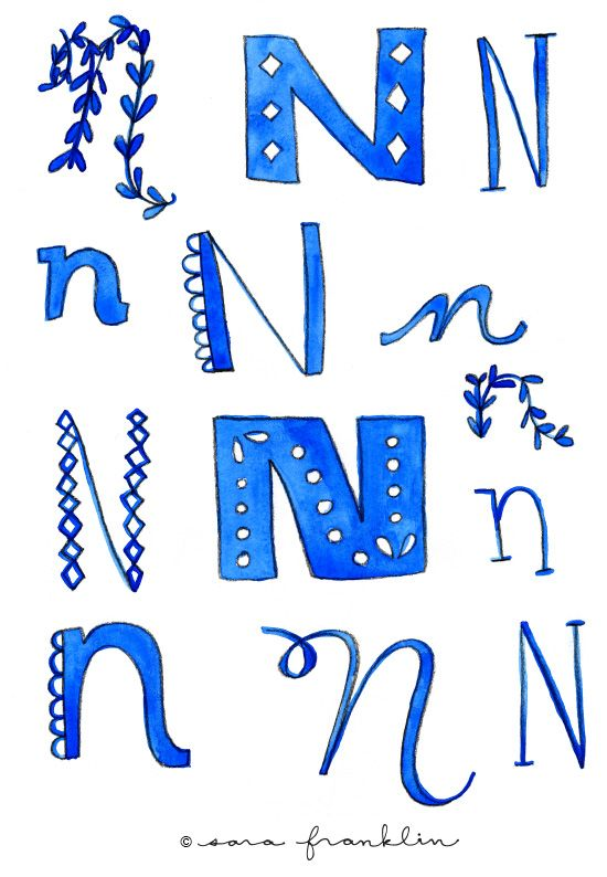 Letter N: Follow the Letter A Day Project by Sara Franklin on her blog.
