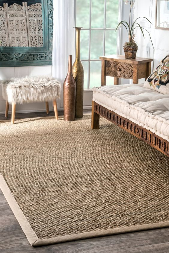 Maui Seagrass with Border Rug | Natural Fiber Rug | Rugs USA