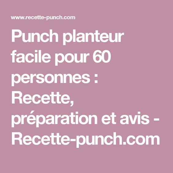 Punch planteur facile pour 60 personnes : Recette, préparation et avis - Recette-punch.com