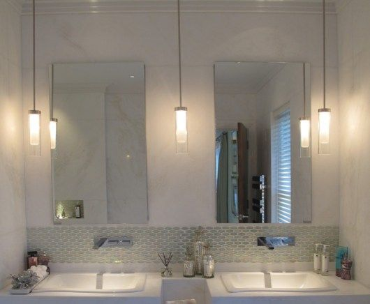 Lighting Tips For An Amber Mini Pendant Modern Bathroom Lighting Bathroom Pendant Lighting Bathroom Pendant