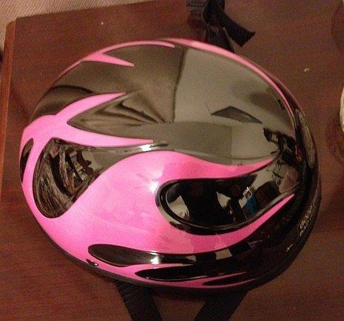 Voss Motorcycle Helmet Ladies Used Flame Pink Amp Black