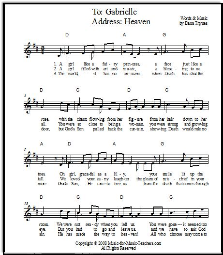 A Song For A Memorial Service For A Beloved Young Friend