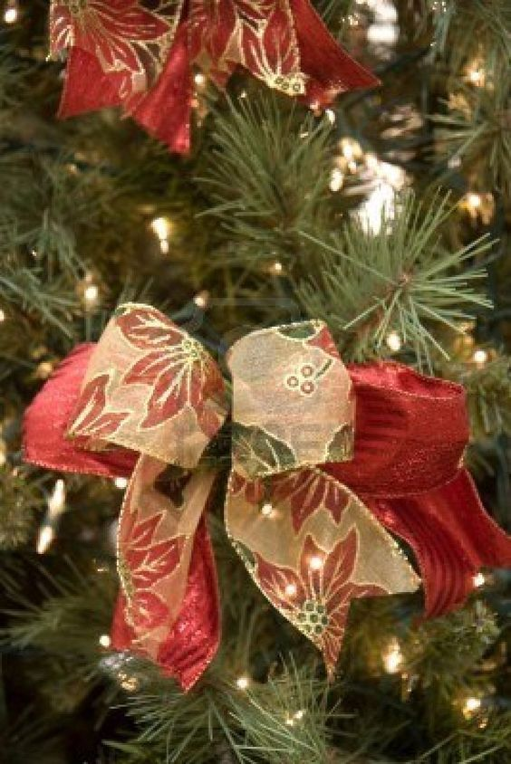 Decorate Christmas Tree With Bows : Christmas tree bows trees ornaments