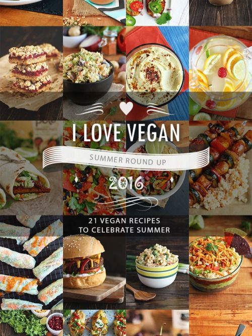 21 Vegan Recipes to Celebrate Summer on ilovevegan.com (Garden of Vegan)