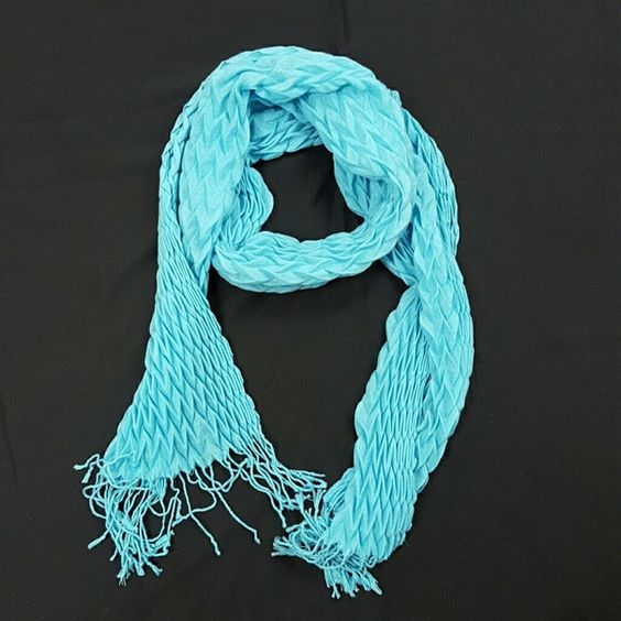 Scarf New, without tags, adorned with fringe at ends Accessories Scarves & Wraps
