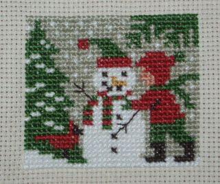 """クリスマス物を始めました。  """"Button Up""""  © 2007 The Prairie Schooler,Inc  初Prairieです。..."""
