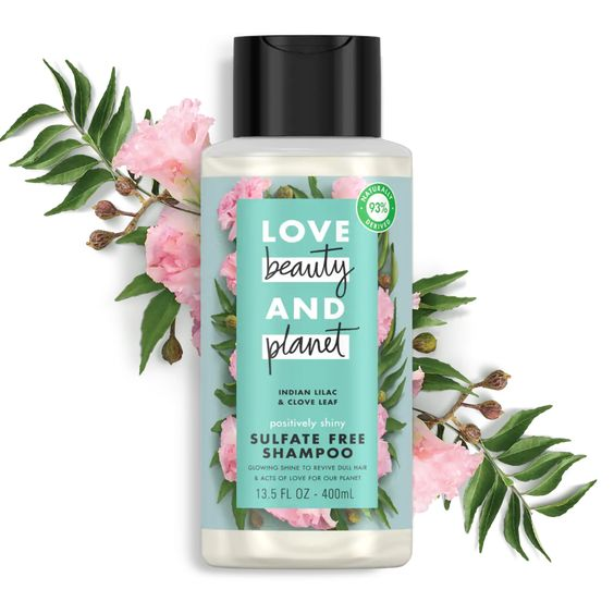 Revive Dull Hair And Give Your Locks A Gloriously Glossy Shine With Our Love Beauty And Planet Positively Shiny Indian Lilac Shampoo Free Clove Leaf Shampoo
