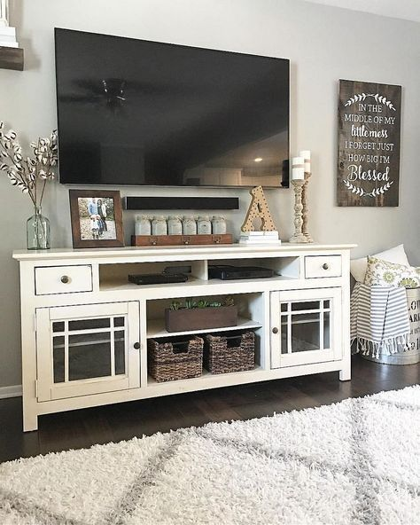 20 Best Diy Entertainment Center Design Ideas For Living Room Farmhouse Decor Living Room Farm House Living Room Room Makeover