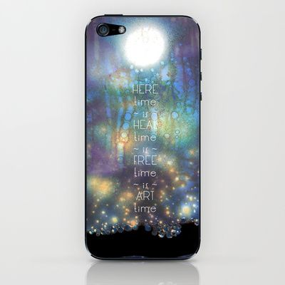Time is Art iPhone & iPod Skin by ChiTreeSign - $15.00