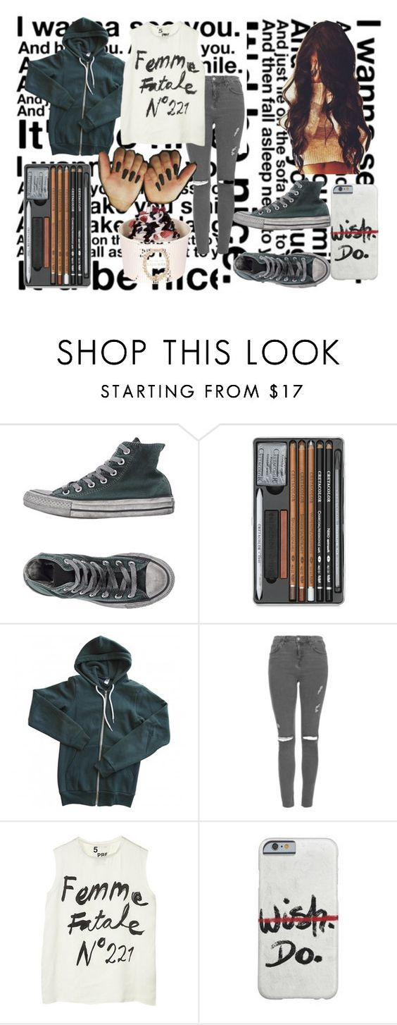 """""""Saak..."""" by sugarshadows ❤ liked on Polyvore featuring Converse, American Apparel, Topshop and 5 Preview"""