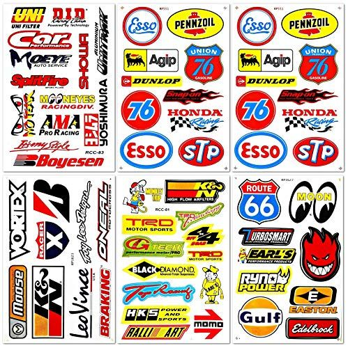 Automotive Cars Auto Racer Race Drag Motorcycle Bmx Motocross Dirtbike Vintage Parts Tools Brand Helmet Racing Pack In 2020 Motorcycle Stickers Sticker Kits Car Decals