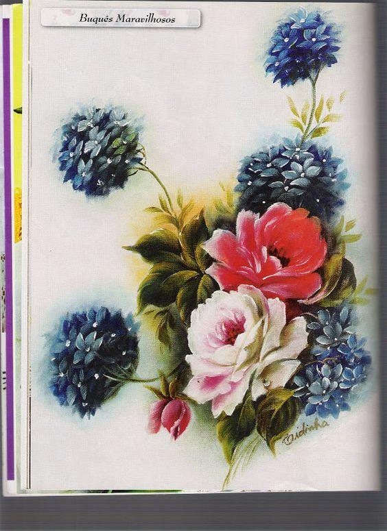 Pintura em Tecido - Guia Prático Nº1 - Marleni - Picasa Web Album: Picasa Web, Flowers P, Flowering, Fabric Painting, Da Web