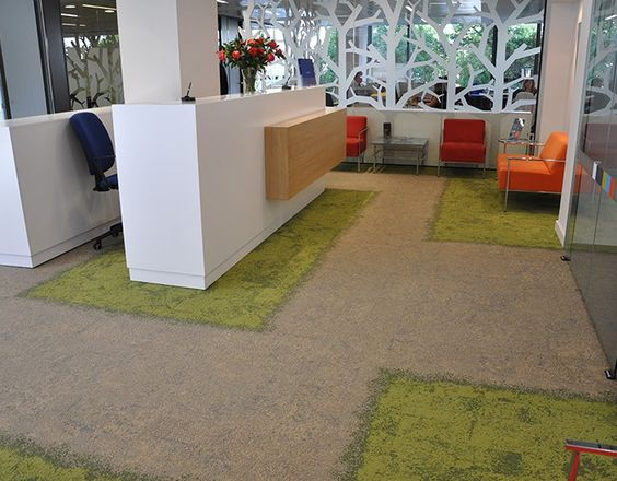 Nice office in Malaga, Spain. Interface carpet tile collection Urban Retreat.