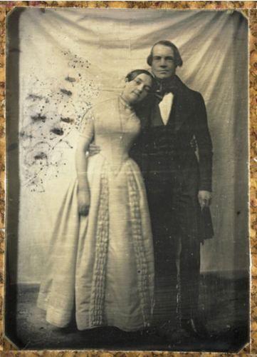 Victorians, unusual romantic pose for a stuffy era