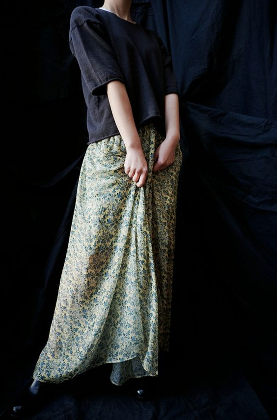 [ 08sircus ] LIBERTY LAYERED GATHER SKIRT www.lancah.com