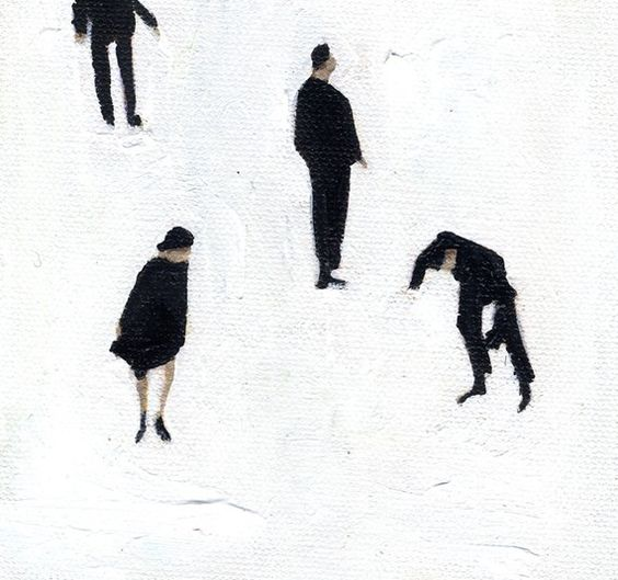 "Skaters Lisa Golightly archival print, signed 5"" x 5"""