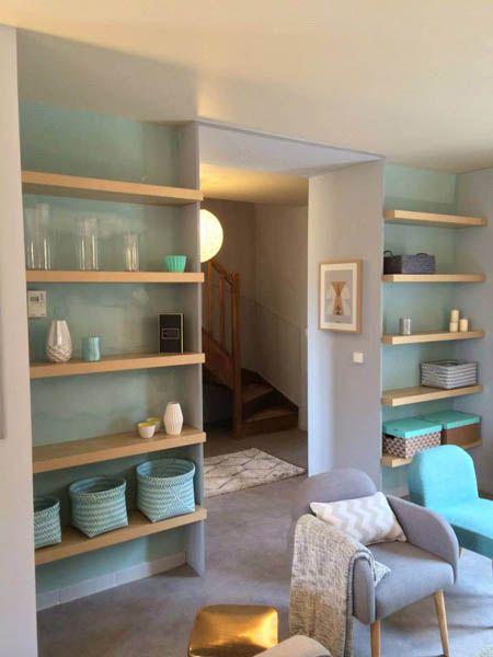 deco scandinave salon bleu. Black Bedroom Furniture Sets. Home Design Ideas