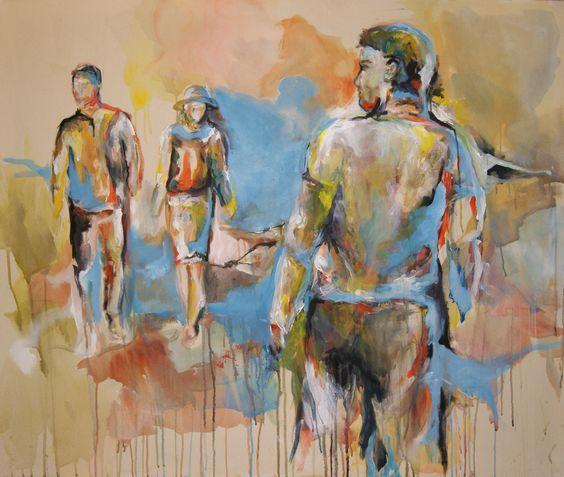 """""""Zwischenmenschen"""", Acryl auf Leinwand, 125 x 105 cm"""