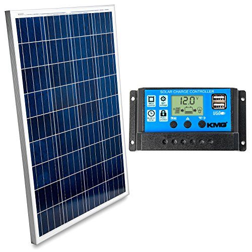 100 Watts 12 Volts Polycrystalline Solar Panel Charge Controller Combo Fast Charging High Efficiency And Long Lasting Perfect For Off Grid Applications Solar Panels Solar 100 Watt Solar Panel