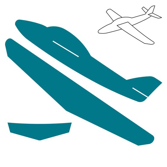 Cardboard airplane template click on image to zoom for Airplane cut out template