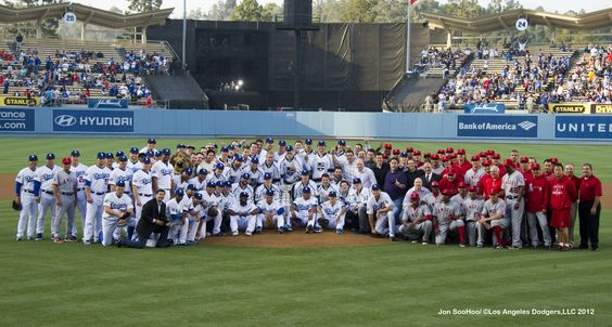 The Cup comes to Dodger Stadium
