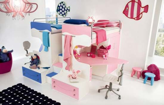 How cute for a boy and girl's room: Kids Bedrooms, Kid Bedrooms, Kids Bedroom Furniture, Kids Room, Dream Bedrooms, Kid S Room