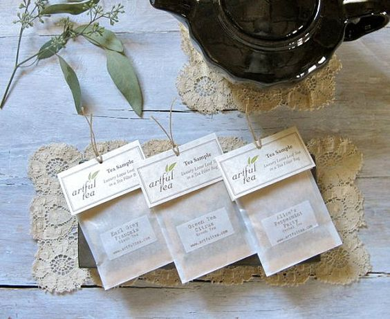 Tea Sampler  Handmade Loose Leaf Tea Bags  Party by ArtfulTea, $9.00
