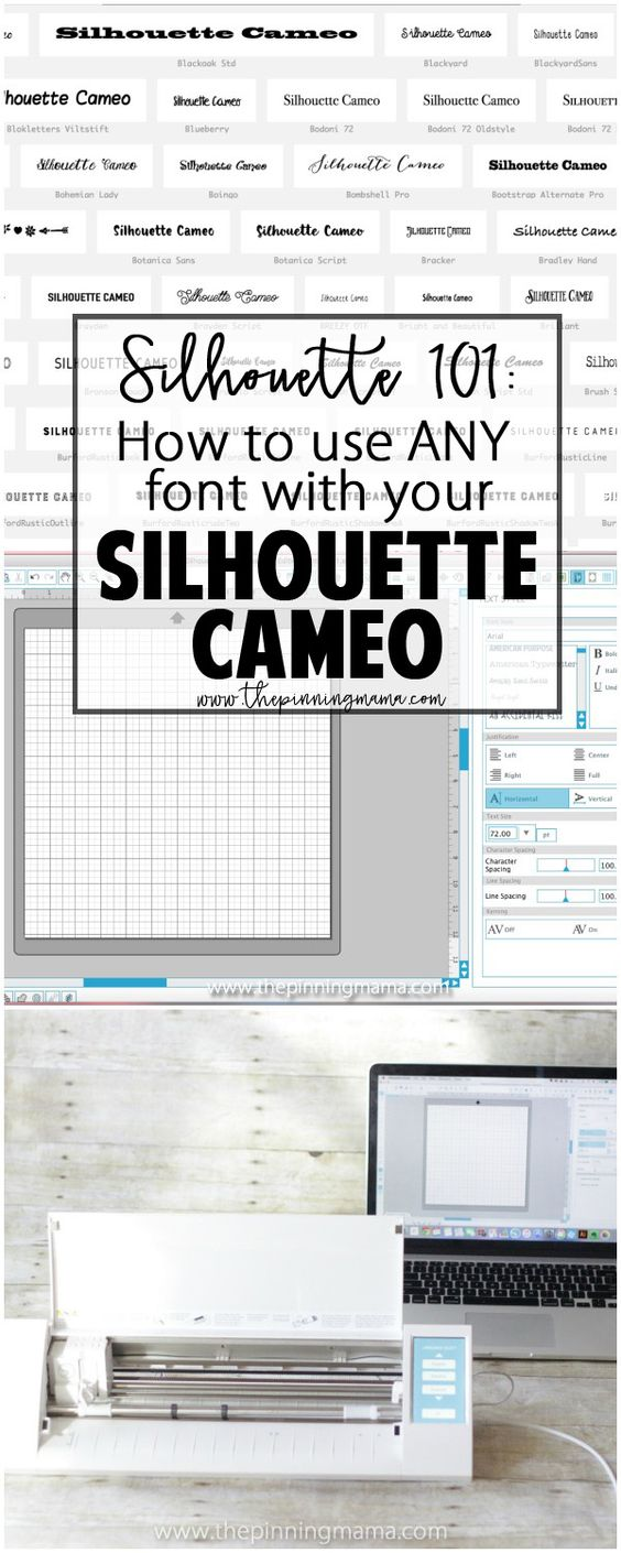 Silhouette 101: How to use any font with your Silhouette CAMEO. I can't believe I didn't know this!!
