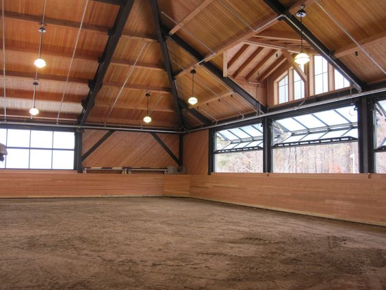 How would you describe your first enclosed arena horse show?