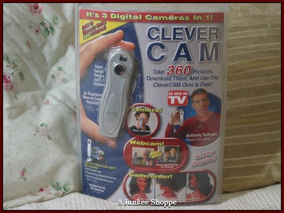 CLEVER CAM By Telebrands 2001 Digital Camera Webcam Camcorder Unused In Package  IMG 1061   http://ajunkeeshoppe.blogspot.com/