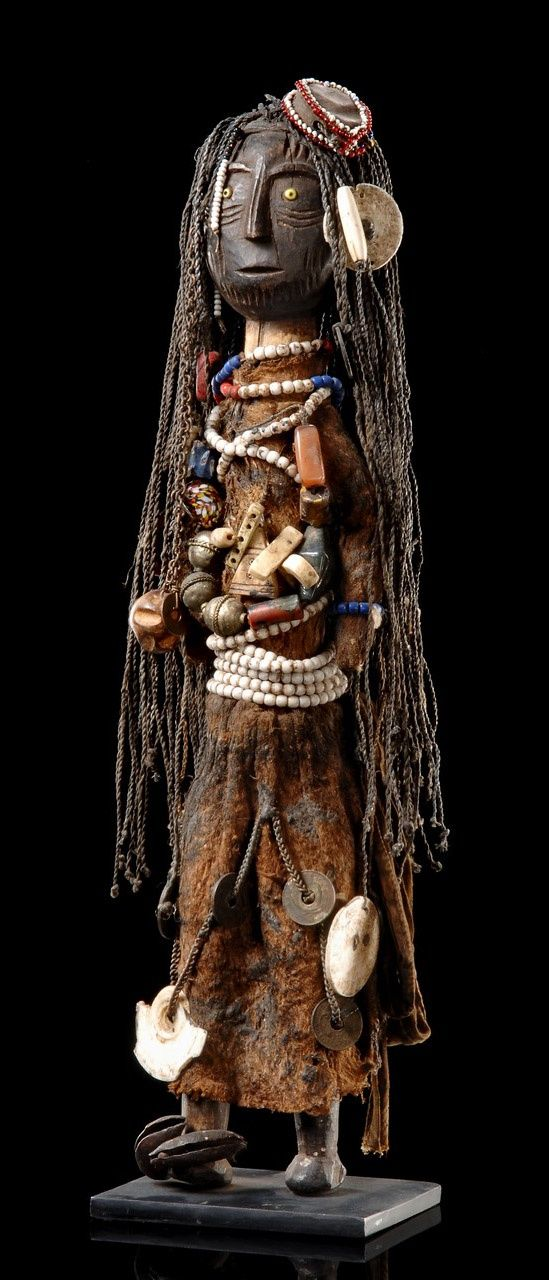 "Africa | Fertility doll ""ikoku"" from the Turkana people of Kenya 