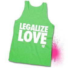 "Neon Green American Apparel Tank ""Legalize Love"""