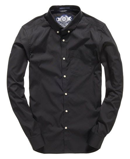 Superdry Premium Button Down Shirt Black