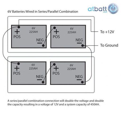 Wiring Diagram Also 2 12 Volt Batteries In Parallel On 6 Volt Series