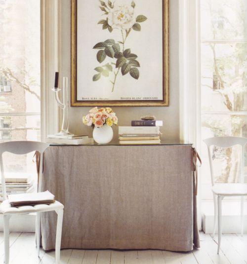 linen table skirt