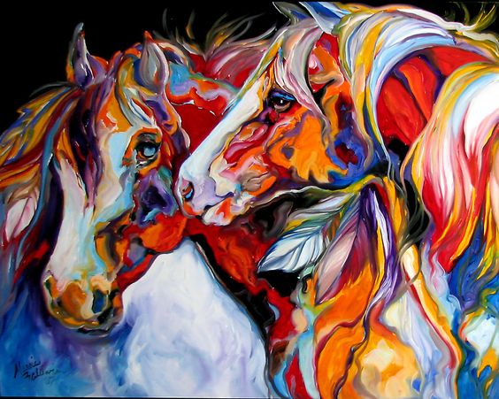 TWO SPIRITS EQUINE SOUTHWEST ORIGINAL by MARCIA BALDWIN