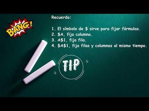 Fijar Fórmulas En Excel Fijar Una Celda O Bloquear Referencia El Símbolo De En Una Fórmula Youtube Filas Y Columnas Simbolos Formulas