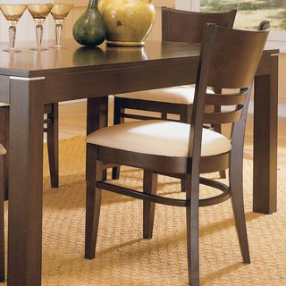 TRIBECCA HOME Venice Espresso Cushioned Dining Chair (Set of 2) | Overstock.com Shopping - Great Deals on Tribecca Home Dining Chairs